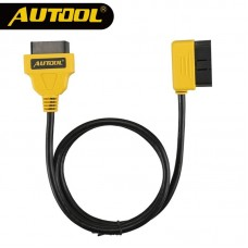 AUTOOL 100cm Car OBD2 Extension Cable 16Pin Connector Elbow Bend Shape Extend Wire Vehicle Auto Diagnostic Adapter Car Accessory
