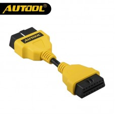 AUTOOL 14CM OBD2 Cable Connector OBDII 16pin Extension Cable OBD2 Extension Cables Car OBD Wire Autos Electronic Connected Cord
